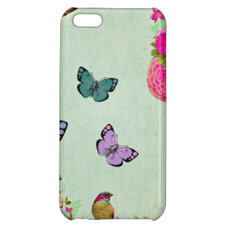Shabby chic, french chic, vintage,floral,rustic,mi cover for iPhone 5C