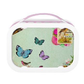 Shabby chic, french chic, vintage,floral,rustic,mi lunch box