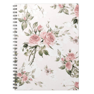 Shabby chic, french chic, vintage,floral,rustic, notebook