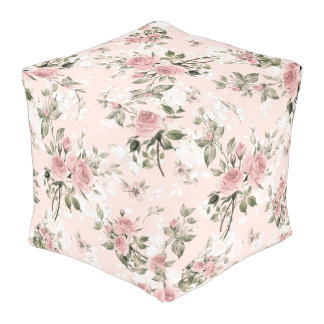 shabby chic, french chic, vintage,floral,rustic,pa pouf