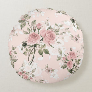 shabby chic, french chic, vintage,floral,rustic,pa round cushion