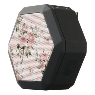 Shabby chic, french chic, vintage,floral,rustic,pi black bluetooth speaker