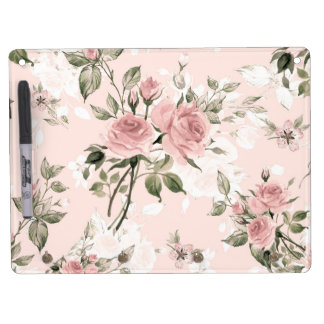 Shabby chic, french chic, vintage,floral,rustic,pi dry erase board with key ring holder