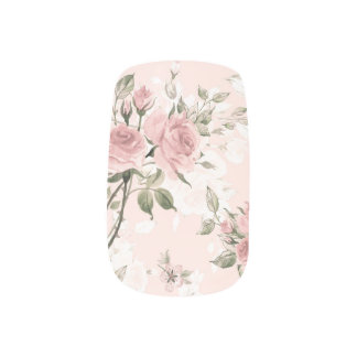 Shabby chic, french chic, vintage,floral,rustic,pi minx nail art