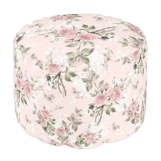 shabby chic, french chic, vintage,floral,rustic,pi pouf
