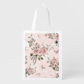 Shabby chic, french chic, vintage,floral,rustic,pi reusable grocery bag