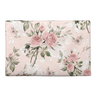 Shabby chic, french chic, vintage,floral,rustic,pi travel accessory bag