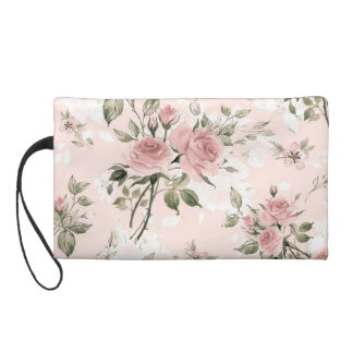 Shabby chic, french chic, vintage,floral,rustic,pi wristlet