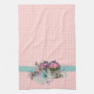 Shabby Chic Garden Floral Kitchen Towel