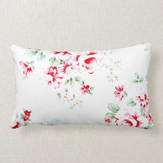 shabby chic gingham and roses pillow