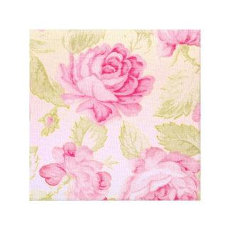 Shabby Chic Good Morning Rosy Canvas Wall Art