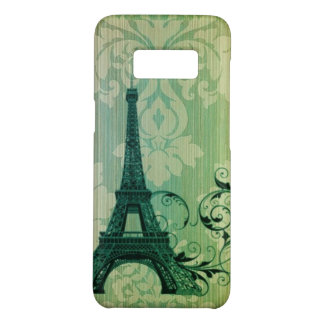 shabby chic green damask Paris Eiffel Tower Case-Mate Samsung Galaxy S8 Case