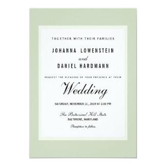 Shabby Chic Green Modern Wedding Card