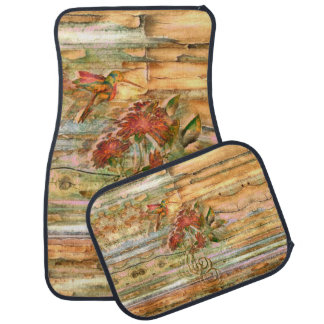 Shabby Chic Hummingbird Flight Car Mats Set
