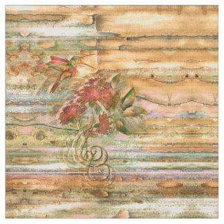Shabby Chic Hummingbird Flight Fabric