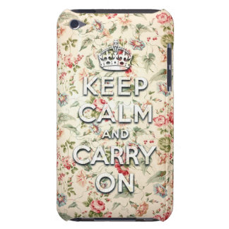 Shabby chic keep calm and carry on barely there iPod cases