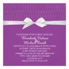 Shabby&Chic Line Purple Damask Wedding Invite