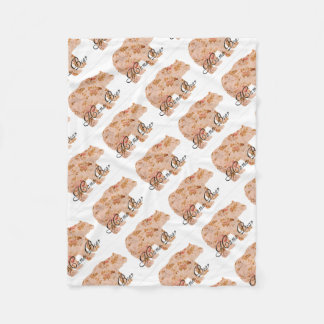 Shabby Chic Mama Bear Fleece Blanket