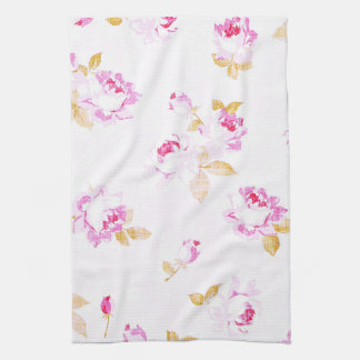 Shabby Chic Pale Pink Rose Kitchen / Bath Towel