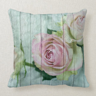 Shabby Chic Pastel Rose Pillow