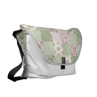 Shabby Chic Patchwork Messenger Bag