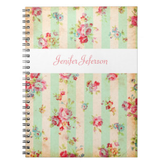 Shabby chic pattern tiles Notebook