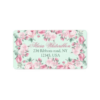 Shabby chic personalised address labels
