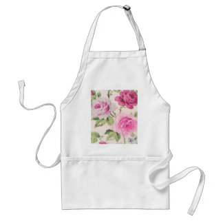 shabby chic pink floral vintage victorian girly adult apron