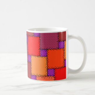 Shabby Chic Purple Patchwork Shades Coffee Mug