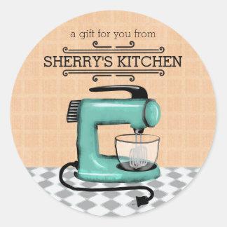 Shabby chic retro stand mixer food bakery sticker