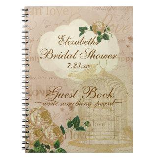 Shabby Chic Romantic Vintage Bridal Guest Book |