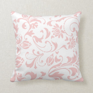 Shabby Chic Rose Quartz Modern Floral Pattern Cushion