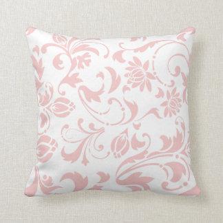 Shabby Chic Rose Quartz Modern Floral Pattern Throw Pillow