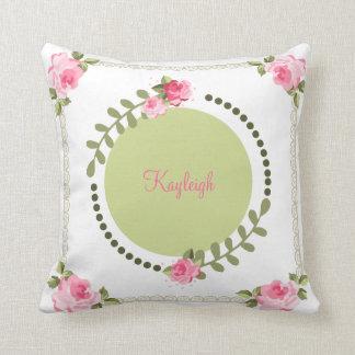 Shabby Chic Rose Throw Pillow