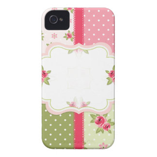 shabby chic roses iPhone 4 case