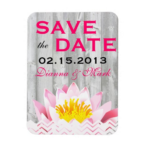 Shabby Chic rustic save the Date Wedding Magnet