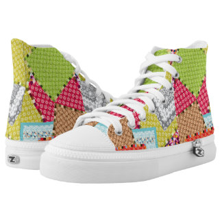 shabby chic shoes printed shoes