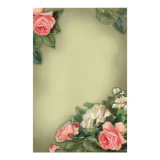 Shabby Chic style roses Customised Stationery