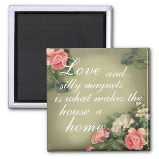 Shabby Chic style roses Square Magnet