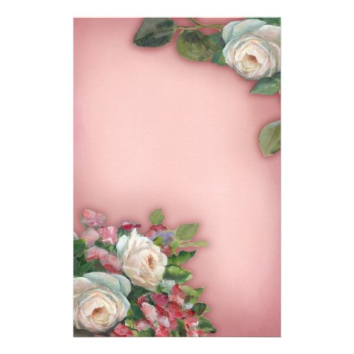 Shabby Chic Style Roses Stationery