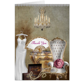 SHABBY CHIC THANK YOU CARD FOR BRIDAL SHOWER