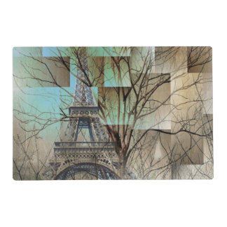 shabby chic trees vintage paris eiffel tower placemat