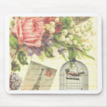 Shabby Chic vintage art Paris accessories and gift Mouse Pads