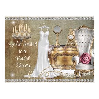 SHABBY CHIC VINTAGE BRIDAL SHOWER INVITATION BLING