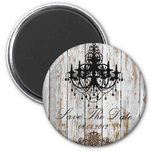 shabby chic vintage country wedding favor fridge magnet