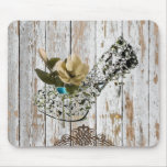 shabby chic vintage country wedding favour mouse mat