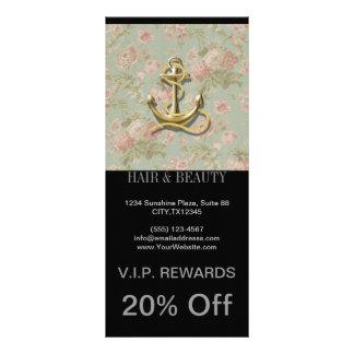 shabby chic vintage floral anchor girly nautical custom rack card