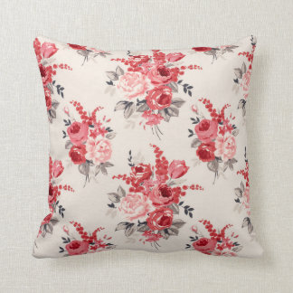 Shabby Chic Vintage Flower Cushion