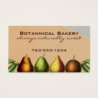 shabby chic vintage pears fruit baking biz cards