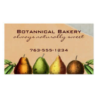 shabby chic vintage pears fruit baking biz cards business card template